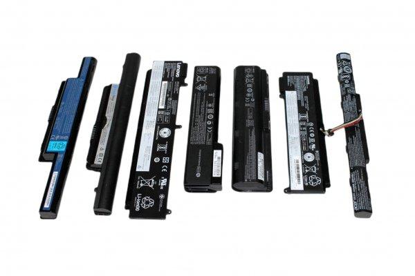 10X ungeprüfte Laptop Notebook Akkus Akku li-ion Acer Asus Toshiba DELL IBM Lenovo
