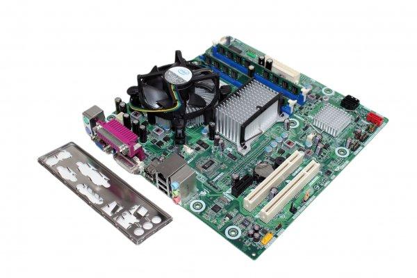 Intel DQ43AP Intel Core 2 Duo E5300 2,60 GHz 4GB DDR2 mATX Mainboard-Bundle