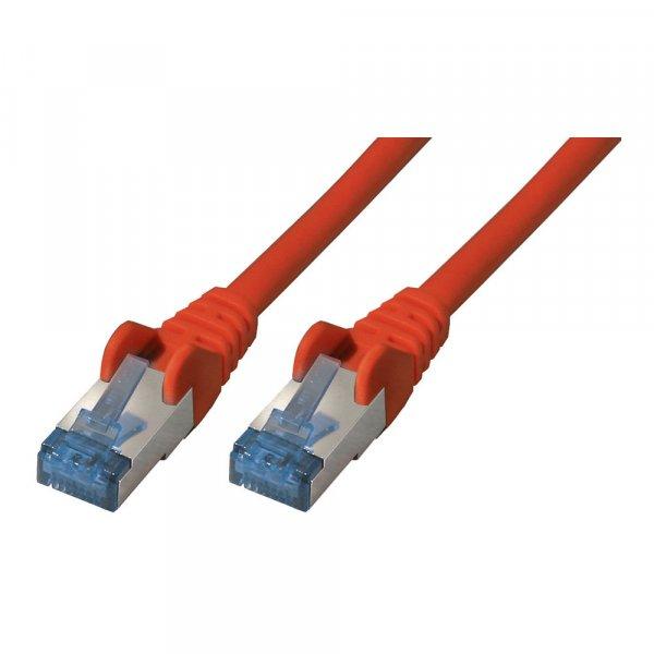Patchkabel CAT6a RJ45 S/STP 7,5m red | Halogenfrei / GHMT Zertifiziert